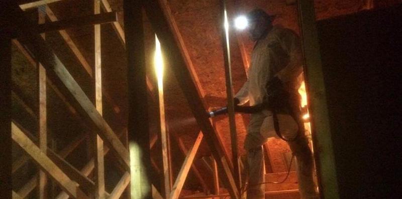 Fogging and attic after attic decontamination