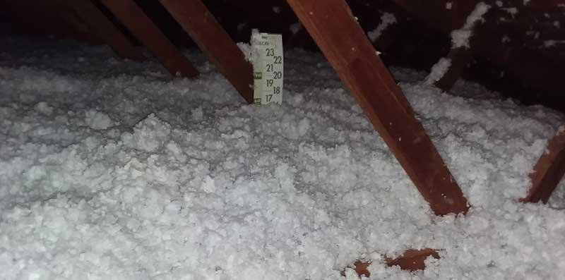 New insulation at  Huron Bat Removal